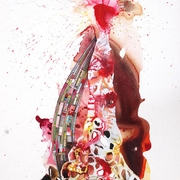 Order Chaos 32 oil and mixed media on paper 60x40inches 2012