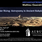 "Special Lecture on the Ancient World ""Jupiter Rising: Astronomy in Ancient Babylonia"""