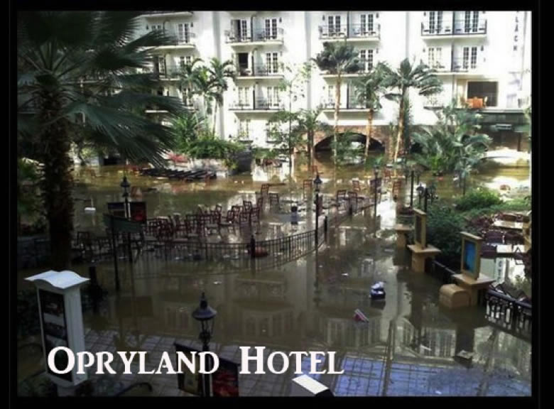 Flooded Hotel, Mall,