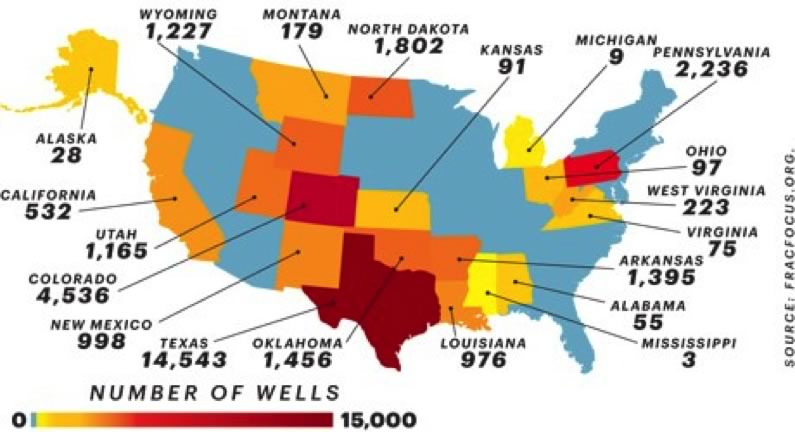 Fracking Climate Energy And Society College Of Liberal Arts - Us fracking map 2016