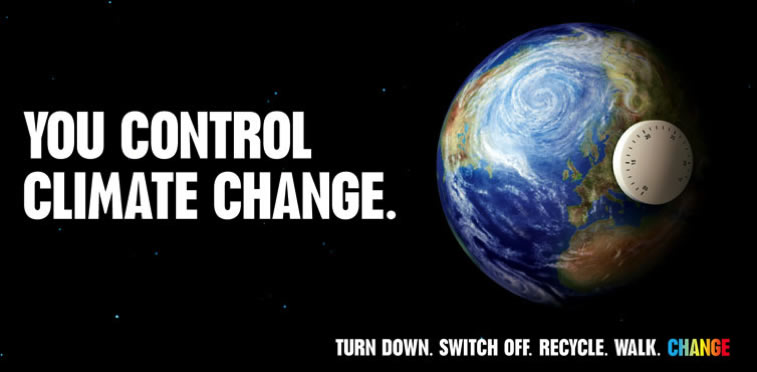 You control climate change poster