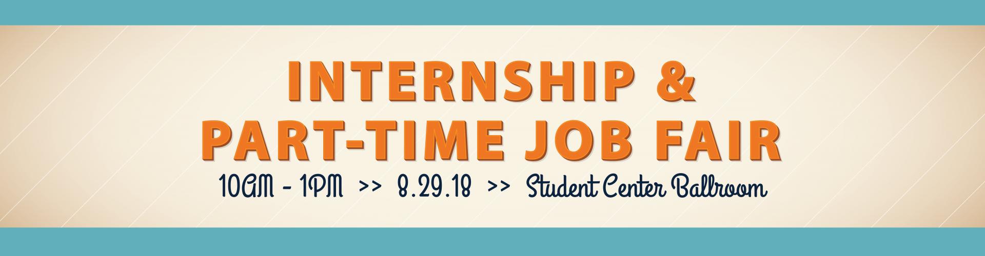 Internship & Part-Time Job Fair Banner: 10am-1pm August 29, 2018 · Auburn University ...
