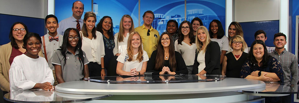 CLA Students visiting WRBL.TV during the Career Trek