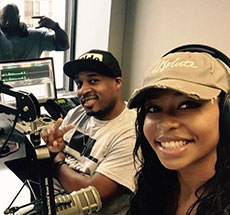 Kimberly Sandy interning at CBS Radio in Atlanta, GA