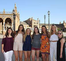 study abroad students in Seville, Spain
