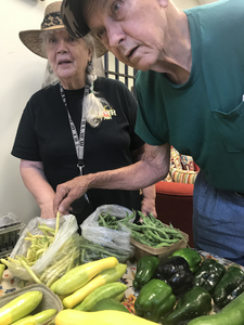Collinsville citizens enjoying the food hub