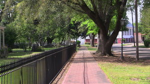 View of sidewalk in Selma