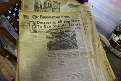 Old newspapers found in the museum