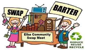 Cartoon image of swapping goods