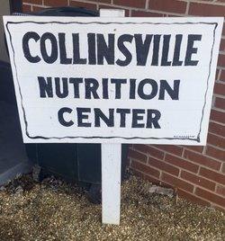 Sign saying Collinsville Nutrition Center