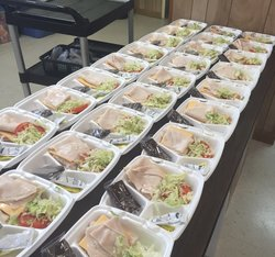 A table full of meals ready to be eaten