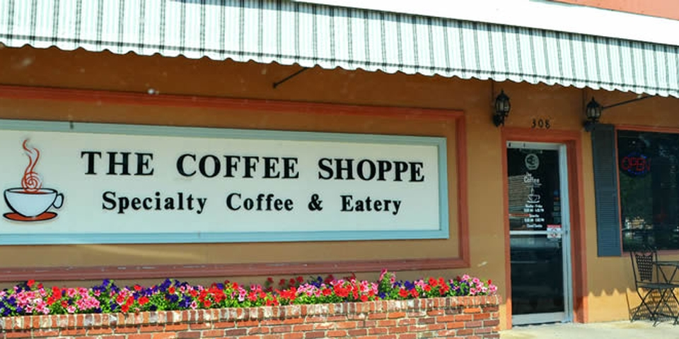 front elevation of coffee shoppe