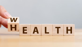 Health spelled out in blocks