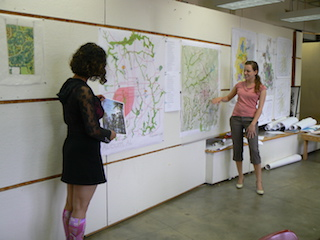 students presenting map