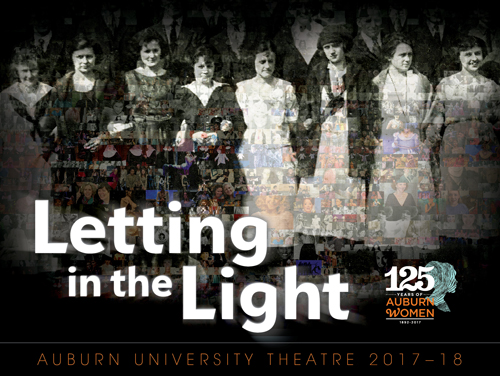 Photomosaic of AU Theatre women over the years; titled Letting in the Light